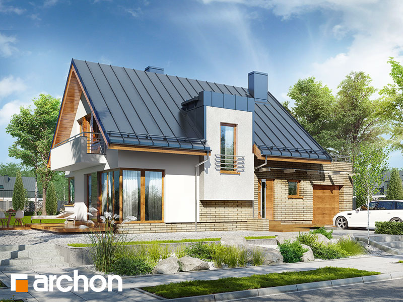 Projekt: Dom w amarylisach ver.2 Wizualizacja widok 1