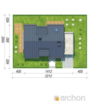 projekt Dom w amarylisach sytuacja