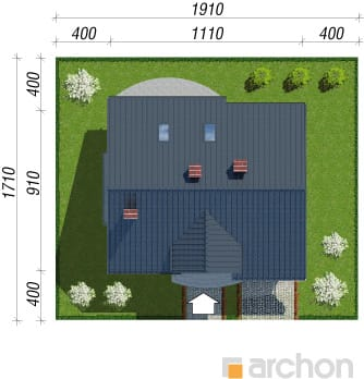 projekt Dom w lucernie sytuacja