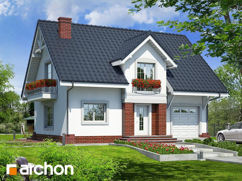 Projekt: Dom w lucernie ver.3 Wizualizacja widok 1