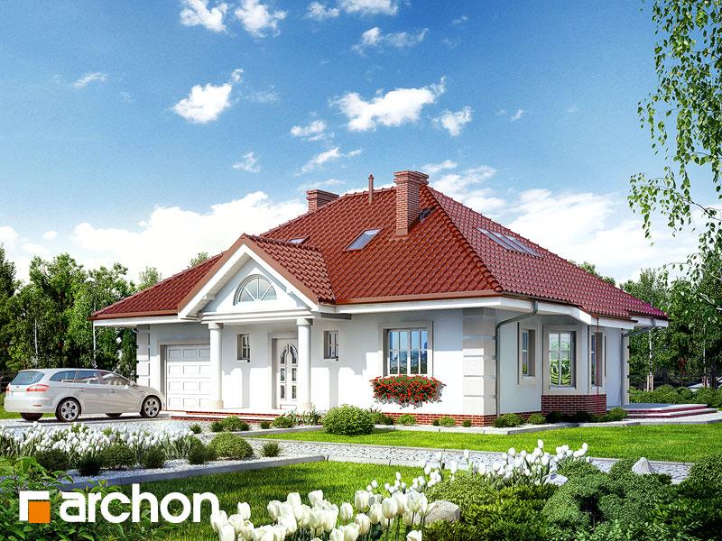 Projekt: Dom pod jarząbem 2 ver.2 Wizualizacja widok 1