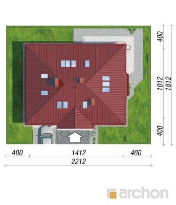 projekt Dom pod jarząbem 2 sytuacja