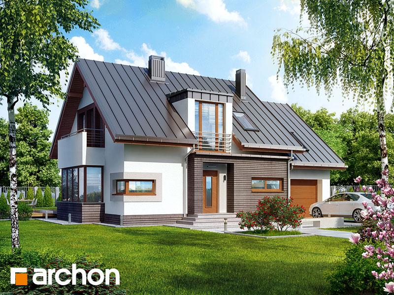 Projekt: Dom w kardamonie 2 ver.2 Wizualizacja widok 1