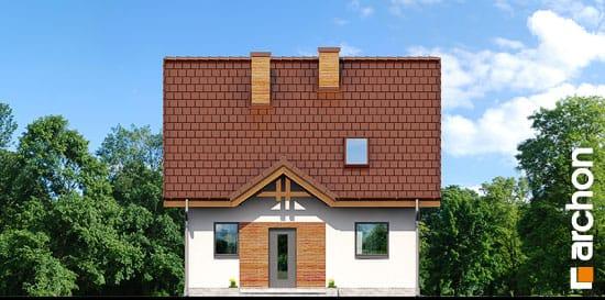 Elewacja frontowa projekt dom w poziomkach ver 2  264