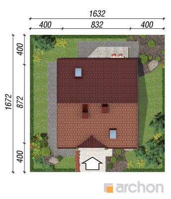 projekt Dom w poziomkach sytuacja