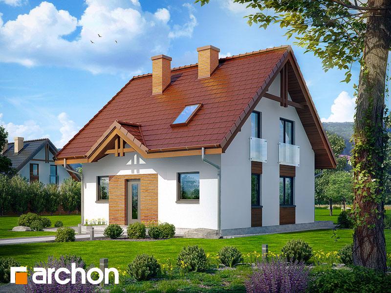 Projekt: Dom w poziomkach ver.2 Wizualizacja widok 1