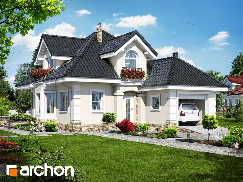 Projekt: Dom w rukoli (P) ver.2 Wizualizacja widok 1