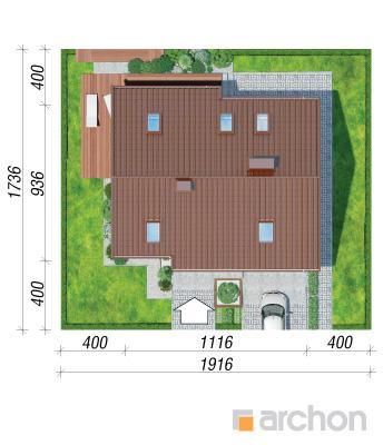 projekt Dom w żurawkach sytuacja