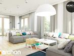projekt Dom w idaredach (G2) Strefa dzienna (wizualizacja 1 widok 2)