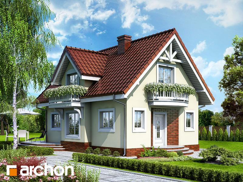Projekt: Dom w antonówkach ver.2 Wizualizacja widok 1