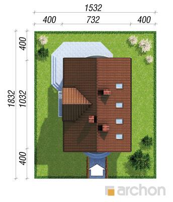 projekt Dom w antonówkach sytuacja