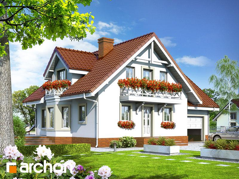 Projekt: Dom w rododendronach 5 ver.2 Wizualizacja widok 1