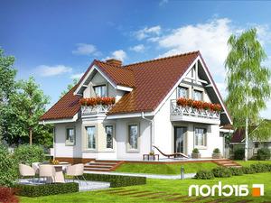 projekt Dom w rododendronach 5 lustrzane odbicie 2