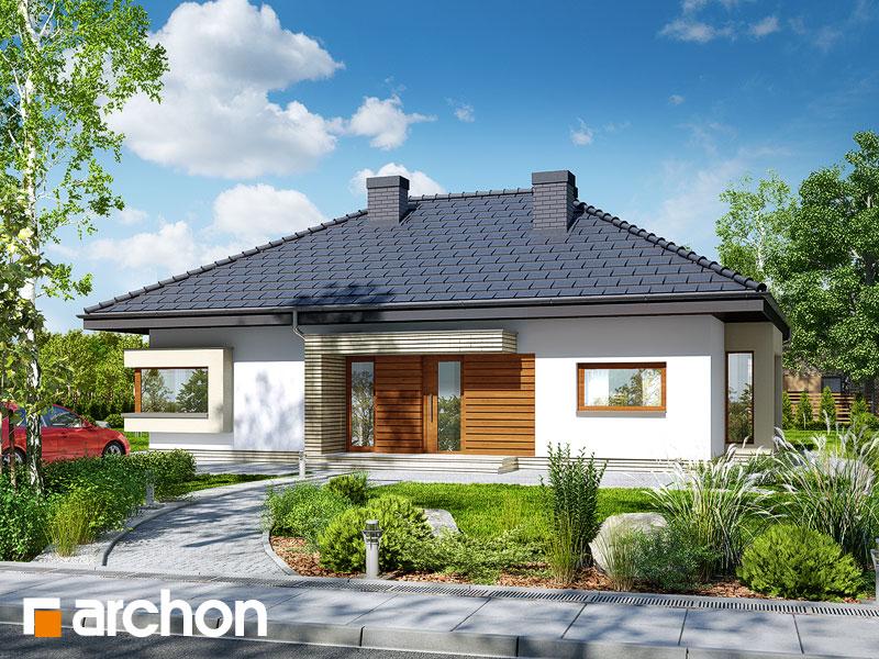 Projekt: Dom pod jarząbem 7 ver.2 Wizualizacja widok 1