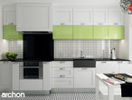 projekt Dom w groszku Wizualizacja kuchni 1 widok 1