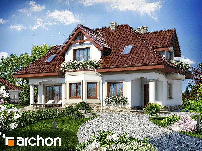Projekt: Dom w majeranku ver.2 Wizualizacja widok 1
