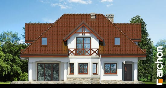 Elewacja frontowa projekt dom w majeranku ver 2  264
