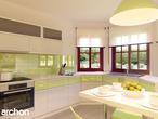 projekt Dom w majeranku Wizualizacja kuchni 1 widok 1