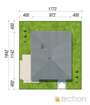 projekt Dom w lilakach sytuacja