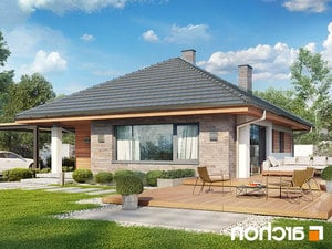 projekt Dom w lilakach lustrzane odbicie 2