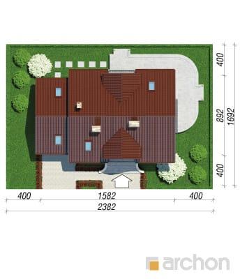 projekt Dom w werbenach 5 sytuacja