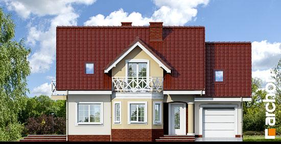 Elewacja frontowa projekt dom w ananasach ver 2  264