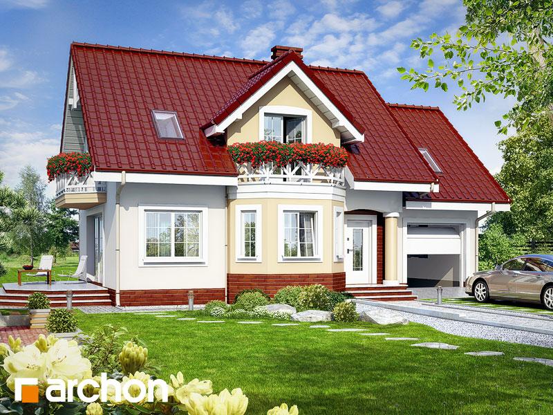 Projekt: Dom w ananasach ver.2 Wizualizacja widok 1