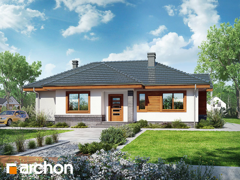 Projekt: Dom we wrzosach ver.2 Wizualizacja widok 1