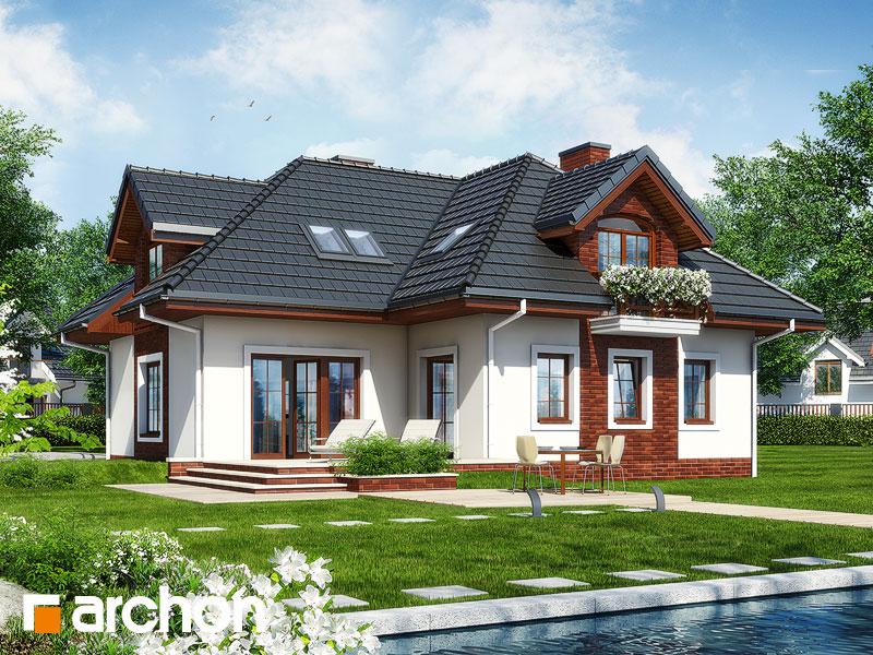 Projekt: Dom w chabrach Wizualizacja widok 1
