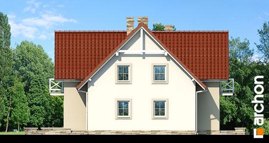 Elewacja boczna projekt dom w fiolkach  266