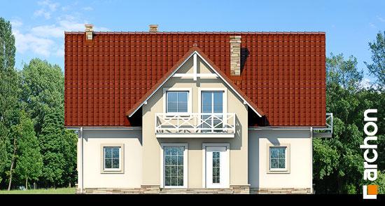 Elewacja frontowa projekt dom w fiolkach  264