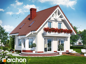 projekt Dom w winogronach widok 2