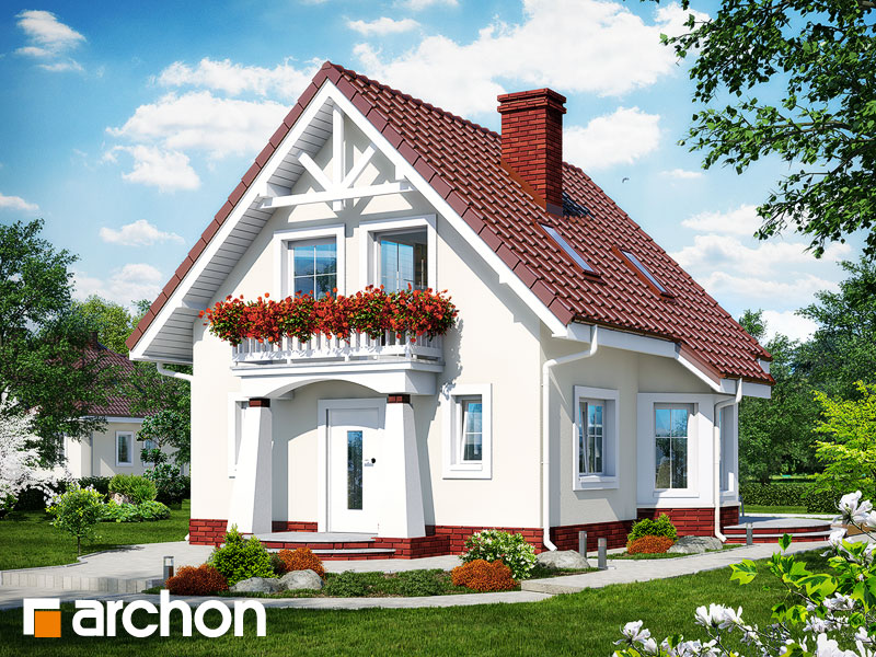 Projekt: Dom w winogronach ver.2 Wizualizacja widok 1
