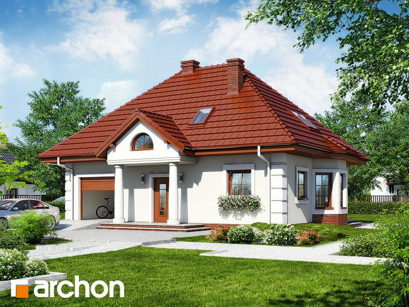 Projekt: Dom w winorośli 2 Wizualizacja widok 1