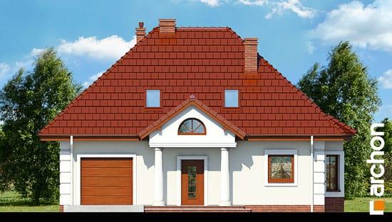Elewacja frontowa projekt dom w winorosli 2  264