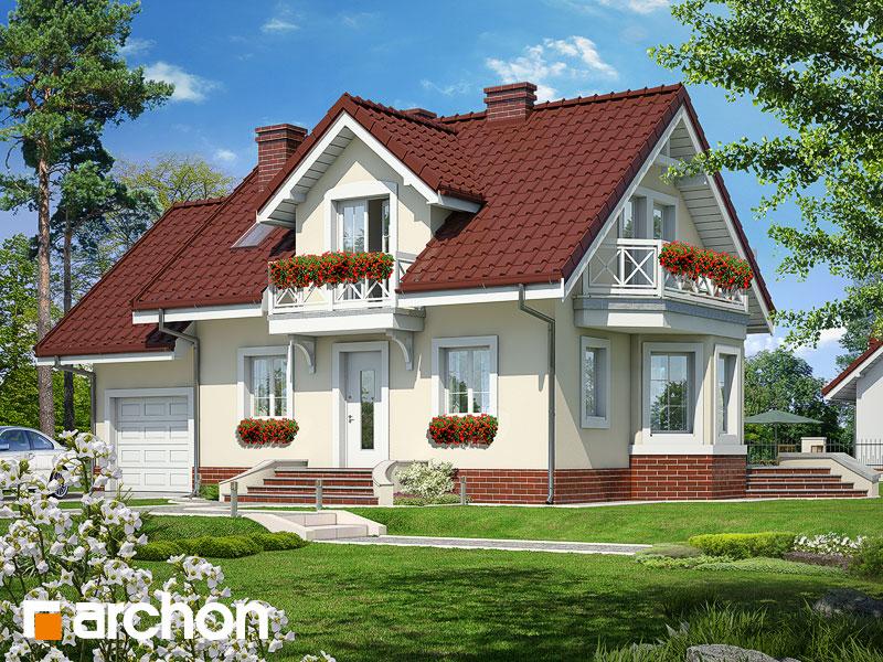 Projekt: Dom w perłówce ver.2 Wizualizacja widok 1