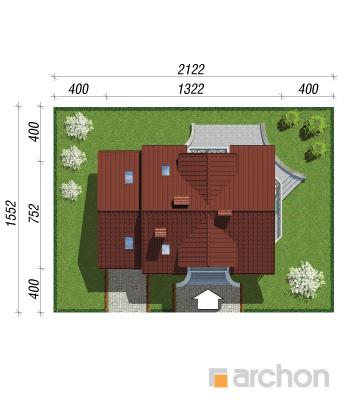 projekt Dom w perłówce sytuacja