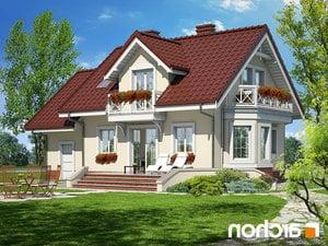 projekt Dom w perłówce lustrzane odbicie 2