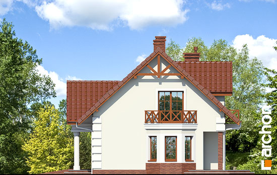 Projekt dom w winorosli 3  265