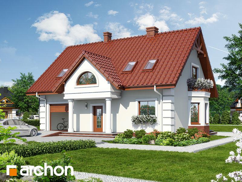Projekt: Dom w winorośli 3 Wizualizacja widok 1