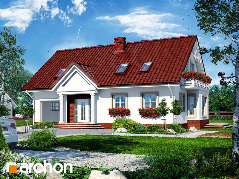 Projekt: Dom pod jemiołą 3 Wizualizacja widok 1