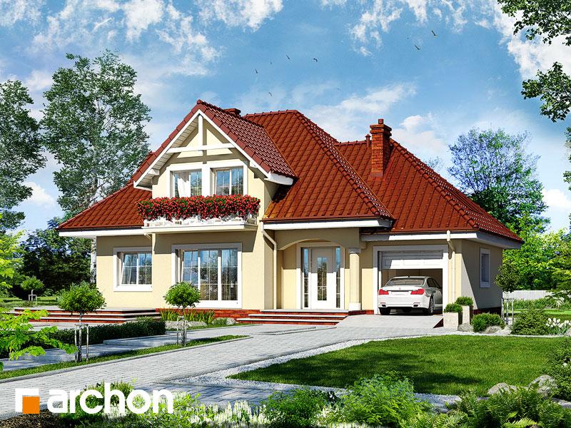 Projekt: Dom w lubczyku Wizualizacja widok 1