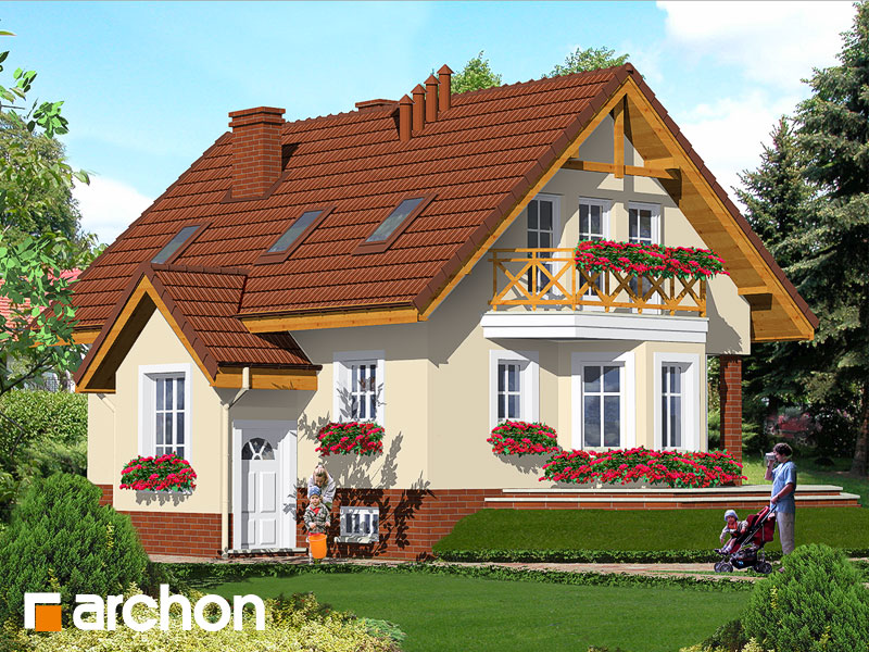 Projekt: Dom w szafranie Wizualizacja widok 1