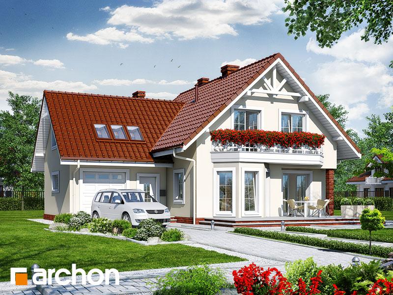 Projekt: Dom na polanie 2 Wizualizacja widok 1