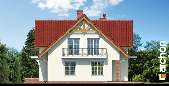 Elewacja boczna projekt dom w fiolkach 3  265