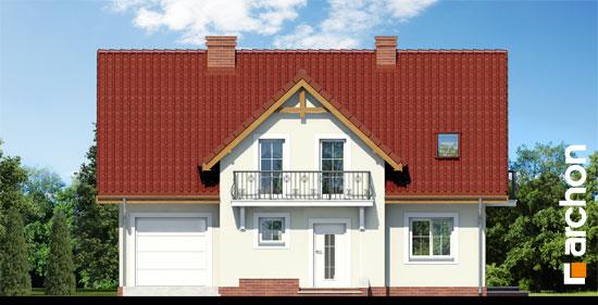 Elewacja frontowa projekt dom w fiolkach 3  264