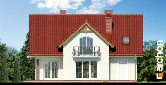 Elewacja ogrodowa projekt dom w fiolkach 3  267