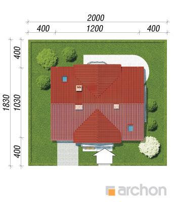 projekt Dom w fiołkach 3 sytuacja