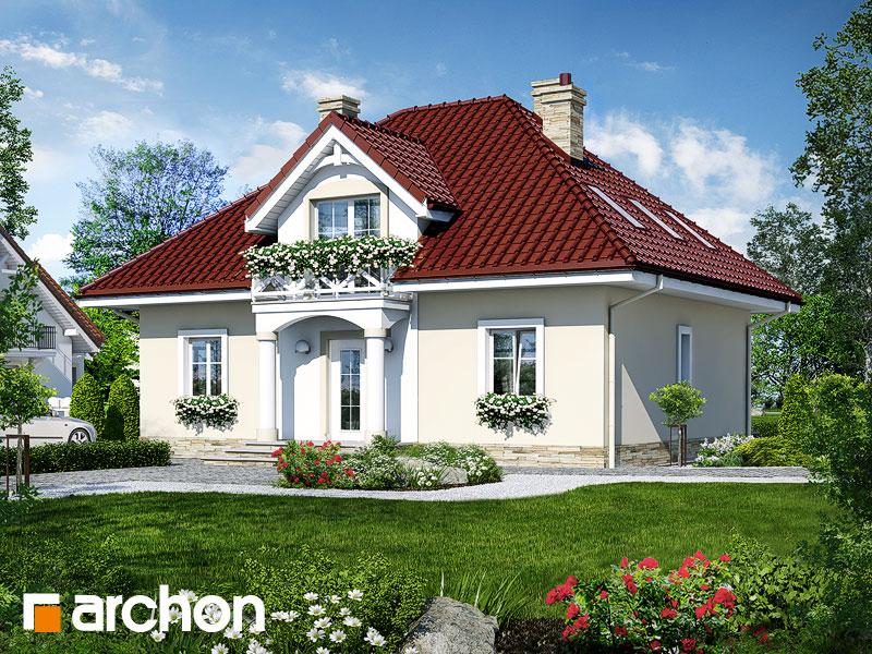 Projekt: Dom w szkarłatkach Wizualizacja widok 1