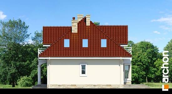 Elewacja boczna projekt dom w szkarlatkach  266